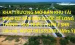 KHAI TRƯƠNG MỞ BÁN KHU TÁI ĐỊNH CƯ SÂN BAY QUỐC TẾ LONG THÀNH - 800 TRIỆU / NỀN / SHR